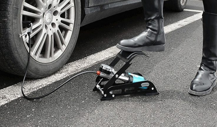 Автомобильный ножной насос: устройство, 4 преимущества и 5 лучших моделей