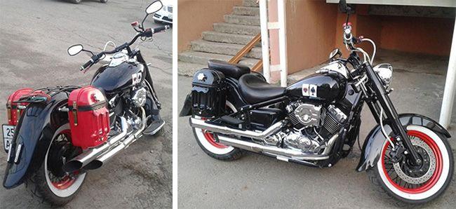 Как сделать боковые кофры для мотоцикла своими руками