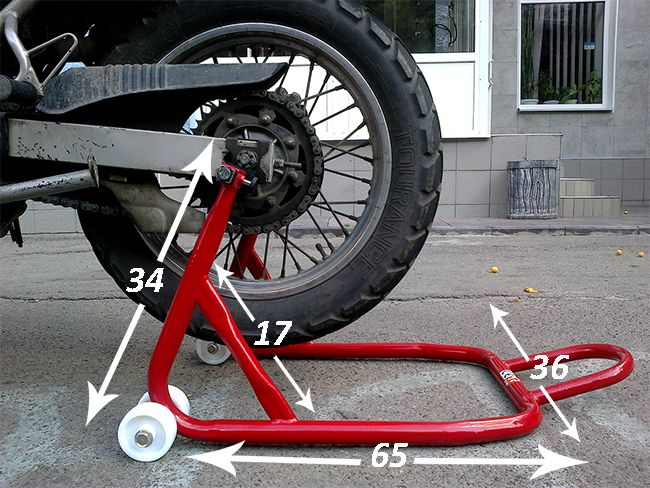 Как своими руками изготовить подставку под мотоцикл