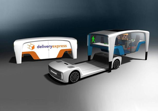 Новый концепт электрического беспилотного автомобиля на SEMA Show
