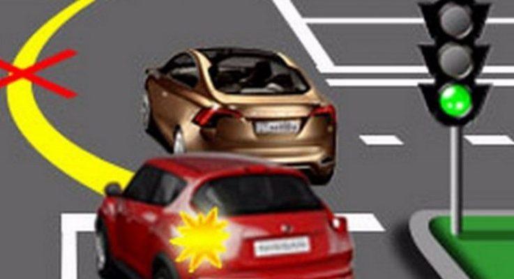 Обгон на перекрёстке по Правилам дорожного движения в 2018 году