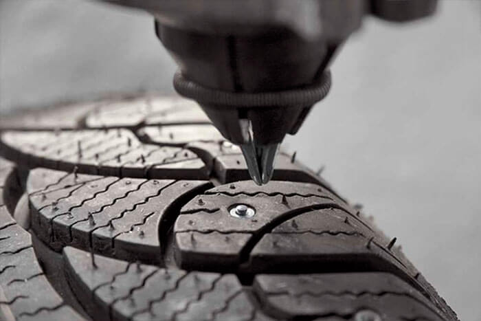 Перешиповка зимних шин своими руками
