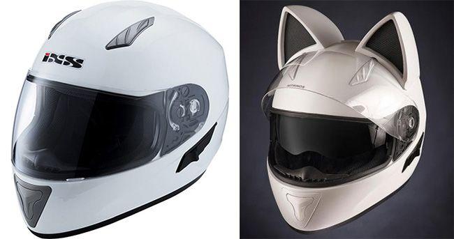 Про экспрессивные женские мотошлемы с ушками