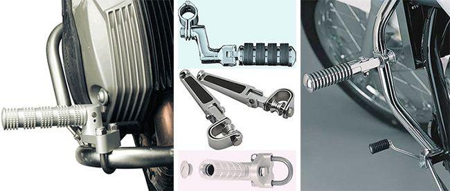 Разновидности подножек для мотоцикла
