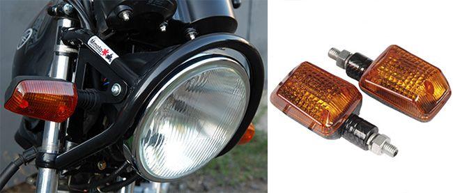 Разновидности поворотников для мотоцикла и их установка