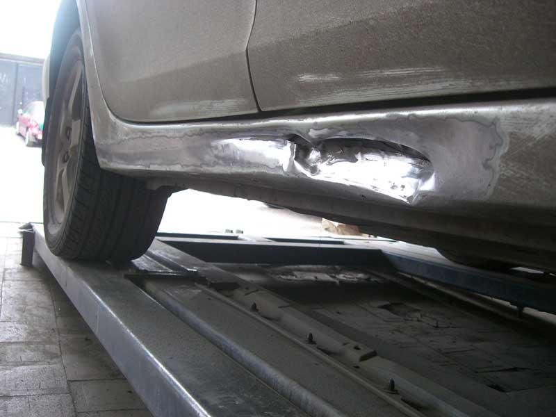 Ремонт порога автомобиля своими руками без использования сварки