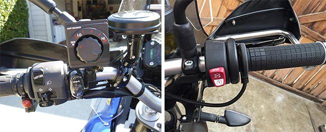 Установка на руль мотоцикла ручек с подогревом