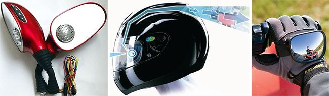 Выбор универсальных зеркал на мотоцикл и их настройка