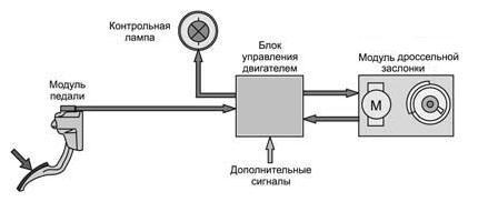 Электронная педаль газа и принципы регулирования