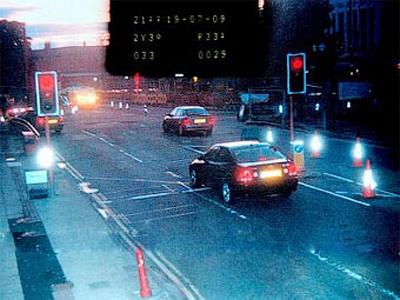 Наказание за проезд водителем на красный свет