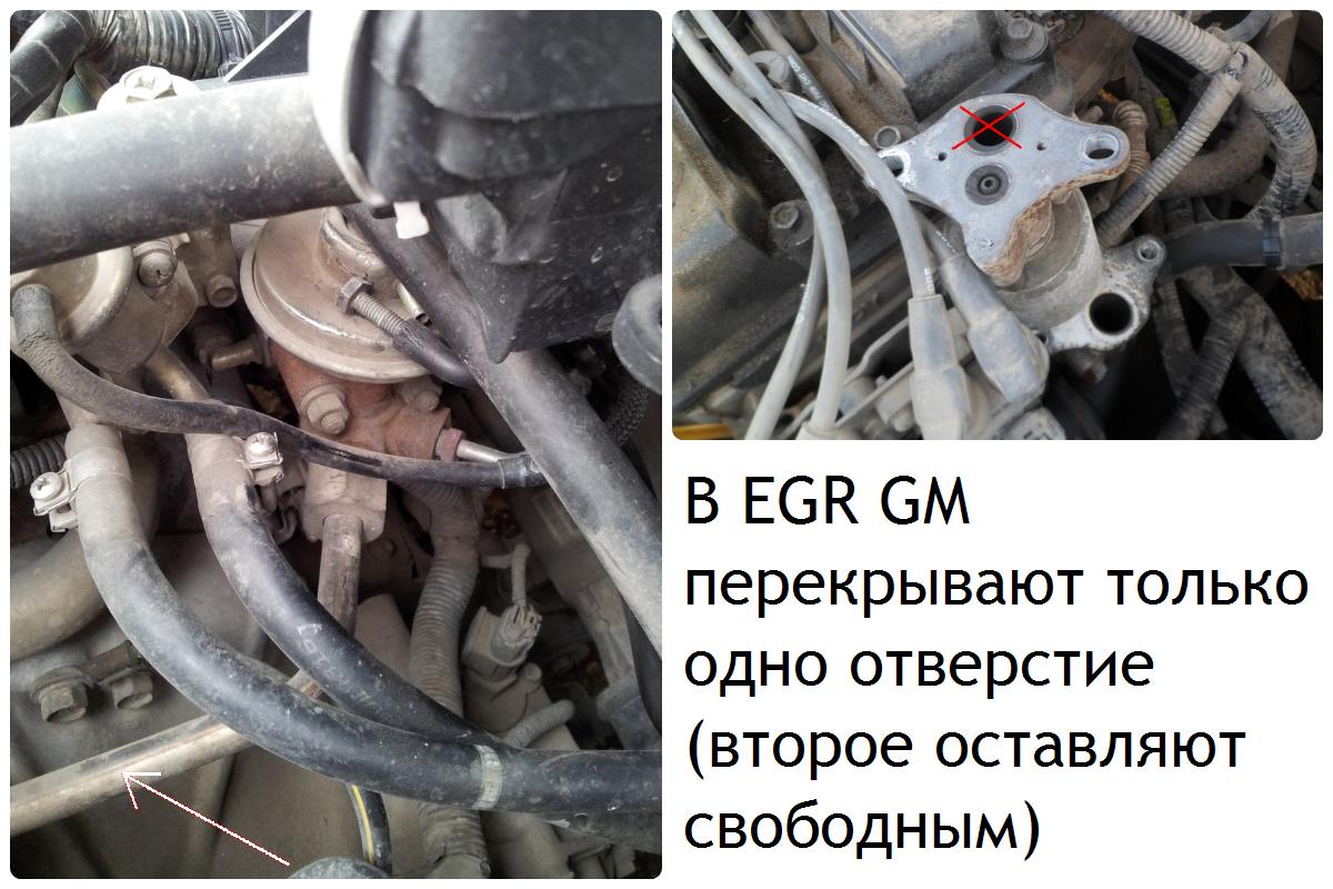 Нейтрализуем систему EGR