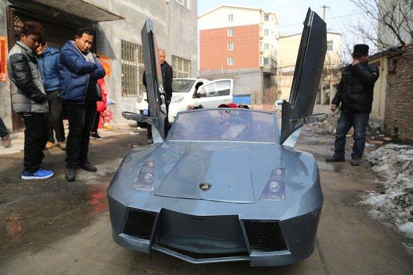 Китайский фермер построил для внука копию Lamborghini за 800 долларов