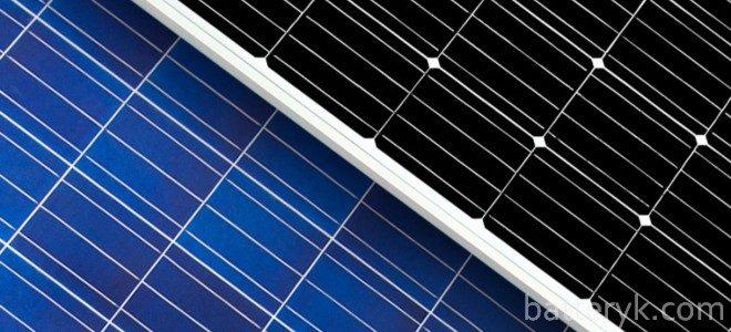 Поликристаллические и монокристаллические солнечные батареи отличия